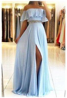 Stunning Prom Dresses, Pretty Prom Dresses, Chiffon Evening Dresses, Prom Dresses Blue, Cheap Prom Dresses, Elegant Dresses, Sexy Dresses, Beautiful Dresses, Summer Dresses