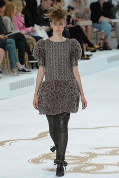 Chanel Fall 2014 Couture - Review - Vogue love the leggings