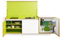 mini cucina a scomparsa colorata