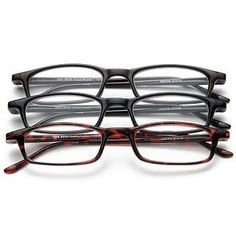fee62fc1d74b Half Eye Style Magnifying Reading Glasses +5.0 Set of 3 Pairs ValuPac by  Neoptx.