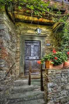 Montefili Village Door by Dennis Rainville
