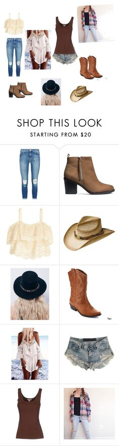 """Country western"" by marlenad1230 ❤ liked on Polyvore featuring J Brand, H&M, Bailey Western, Free People, One Teaspoon, Michael Kors, country, women's clothing, women and female"