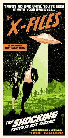 19I The x files TV season 4 Print Art Silk Poster