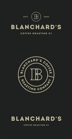 Blanchard's Coffee Roasting Company redesign by Skirven & Croft. Via BrandNew. This identity creates a homely feel with the circles and more subdued color that could reflect the coffee beans. Café Branding, Coffee Shop Branding, Coffee Shop Logo, Vintage Branding, Dessert Logo, Logo Restaurant, Minimal Logo, Logo Inspiration, Creative Inspiration