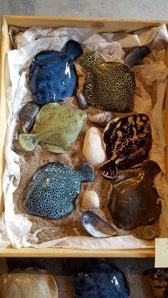 Ceramic flat fish from Höganäs, Sweden