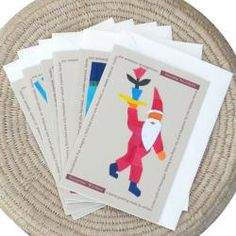 @Overstock - Send your holiday greetings on these colorful handmade cards from Nicaragua. Each card in the set portrays Santa doing a different activity.http://www.overstock.com/Worldstock-Fair-Trade/Set-of-6-Corn-Husk-and-Recycled-Paper-Santa-Greeting-Cards-Nicaragua/5283424/product.html?CID=214117 $15.29