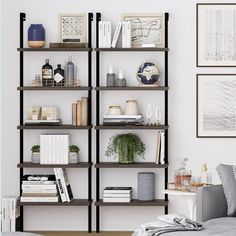 35 The Best Bookshelf Decor Ideas For Your Living Room - Whether you have a built-in bookshelf or you just have a large freestanding bookshelf, it can be difficult to decide on how you want to utilize the sp. Living Room Shelves, Wall Shelves, Living Room Decor, Glass Shelves, Etagere Bookcase, Ladder Bookcase, Ladder Shelf Decor, Open Bookcase, Cool Bookshelves