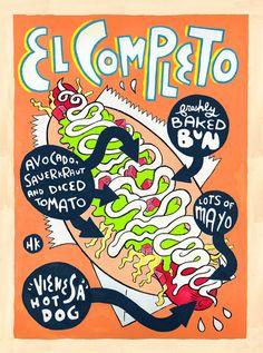 Chilean Completo - Hawk Krall Original Artwork
