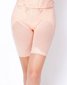 VIPme (VIPSHOP Global) - Tingmei Pink Plain High Waist Simple Lingerie - AdoreWe.com