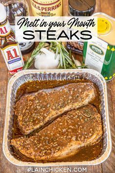 Steak Recipes, Grilling Recipes, Cooking Recipes, Game Recipes, Party Recipes, Steak Marinade Best, Best Steak, Marinated Steak, Barbecue