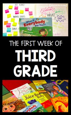 The First Week of Third Grade – School and the City Books, games, and activities for the first week of school (third grade) 3rd Grade Activities, First Day Of School Activities, 3rd Grade Games, Grade 2, Educational Activities, Third Grade Books, Third Grade Reading, First Week Of School Ideas, Beginning Of The School Year