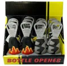 Stainless Steel Bottle Opener-12 Pack Assorted by Bottle Opener. $9.99. Made In China. Stainless Steel. 12 Pack of Assorted Bottle Openers. Lifetime Satisfaction Guarantee. Brand: Pro Series Manufacturer: KR Tools Model: 24155  You will receive these assorted according to warehouse stock.