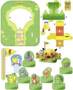 Papercraft Pokemon Easy Pokemon papercraft