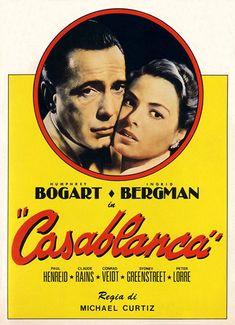 Humphrey Bogart, Bogart Movies, Casablanca 1942, Casablanca Movie, Paul Henreid, Play It Again Sam, Claude Rains, Sharon Osbourne, Movie Posters