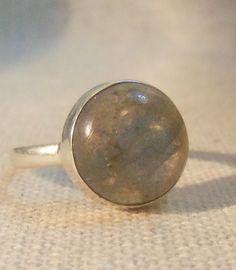 LABRADORITE Gemstone STERLING Silver Ring by CherylsStixAndStonz, $15.00
