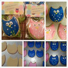 Owl cookies--using an egg cutter