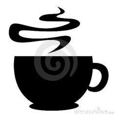 coffee mug silhouettes - Google Search