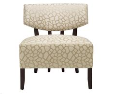 ADRIANA HOYOS Caramelo Collection Upholstered Chair in Dark Seike #LivingRoom