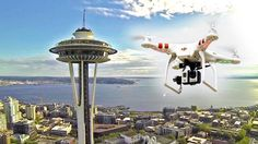 space needle drone