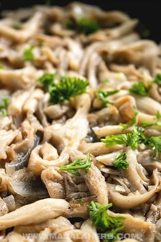 Easy Sauteed Oyster Mushrooms - Vegan recipe, side dish, easy dinner ideas, one pot, quick recipe, white oyster mushrooms,  preparing, frying, how to cook oyster mushrooms, oyster mushrooms varieties. how to clean oyster mushrooms, 15-minute recipe MasalaHerb.com #oystermushrooms #vegan Oyster Mushroom Recipe, Mushroom Wine Sauce, Mushroom Recipes, Quick Recipes, Vegan Recipes, Mushroom Varieties, 15 Minute Meals, Side Dishes Easy, Oysters