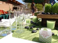 Green linens and a donation wedding favor | Environmental Nature Center Newport Beach, CA Cheap Wedding Venues, Wedding Venues Beach, California Wedding Venues, Wedding Locations, Donation Wedding Favors, Wedding Video Songs, California Honeymoon, Southern California, Ceremony Seating