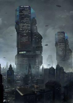 UET Tower cityscape by LAMBLE Mathieu