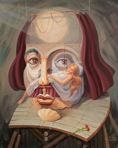 Образ Уильяма Шекспира. Оптическая иллюзия.