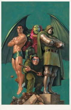 Fantastic Four (Namor, Annihilus, Doctor Doom & Mole Man) by Paolo Rivera two of my favorite characters Doom and Annihilus.and two I wish never existed. Comic Book Villains, Marvel Villains, Comic Book Characters, Marvel Characters, Comic Character, Comic Books Art, Book Art, Anime Comics, Comics Und Cartoons