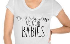 On Wednesdays we wear BABIES  by HelloRhoen on Etsy