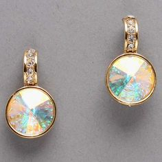 Crystal April Earrings in Iridescence on Emma Stine Limited