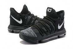 huge selection of 81c08 950b5 Kevin Durant Nike KD 10 Authentic Oreo Black White  basketballshoes New  York Basketball, Indoor