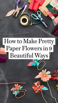 Diy Arts And Crafts, Diy Craft Projects, Creative Crafts, Crafts To Make, Fun Crafts, Paper Flower Garlands, Tissue Paper Flowers, Diy Paper, Paper Art