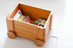 Children's room - Wooden vintage toy box - Ukkonooa