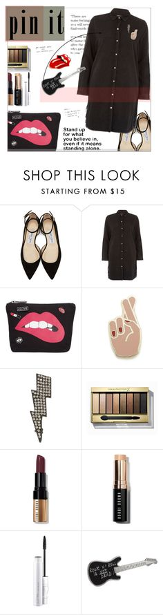 """Untitled #663"" by valenouladls ❤ liked on Polyvore featuring Jimmy Choo, River Island, Circus by Sam Edelman, Georgia Perry, INC International Concepts, Max Factor, Bobbi Brown Cosmetics, MAC Cosmetics and agnès b."