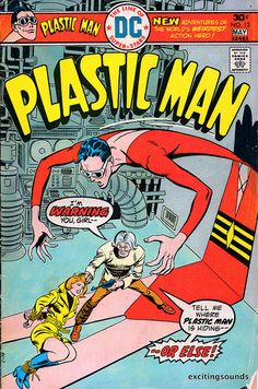 Original Plastic Man Comic, 1970s, Bronze Age, DC Comics, fun comic books