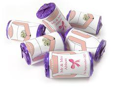 Wedding Favours - Bride Design with Colour Foil choices - Wedding Favours Love Hearts, Wedding Favour Sweets, Wedding Favors, Wedding Bride, Love Heart Sweets, Mint Sweets, One Design, Choices, 5 Years