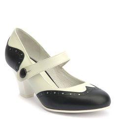 This White & Black Elsie Leather Spectator Pump is perfect! #zulilyfinds