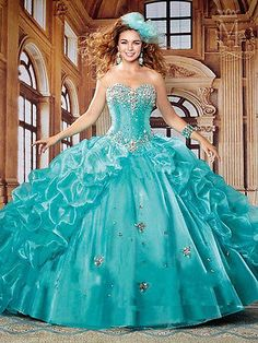 2016 Quinceanera dresses Formal Prom Party Ball Gown color Wedding Dress Custom