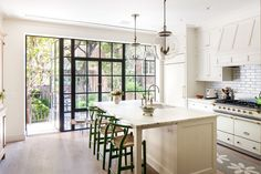 This charming cream kitchen was completed by ABC Worldwide Stone. #luxeNYC