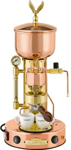 beautiful Elektra Steampunk espresso maker.