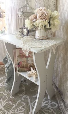 A personal favorite from my Etsy shop https://www.etsy.com/listing/469923177/shabby-console-table-sofa-table-end
