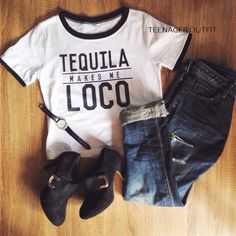TEQUILA MAKES ME LOCO IDR 109.000 FREE ONGKIR JABODETABEK READY STOCK  line : @teenager.outfit