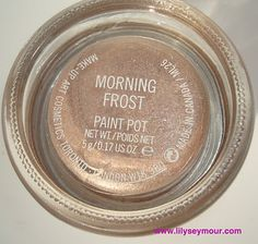 Swatches ~ Mac Holiday Collection Paintpot ~ Morning Frost