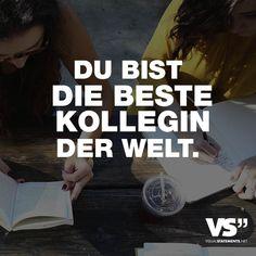 """Visual Statements®️️ Sprüche/ Zitate/ Quotes/ Freundschaft/ """"DU BIST DIE BESTE KOLLEGIN DER WELT."""""""