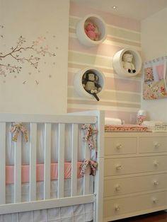 Rayas en tonos pastel para dormitorios infantiles