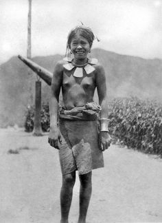 Ifugao woman wearing necklace, Mountain Province area, North Central Luzon, Philippines, Early 20th Century | by J. Tewell