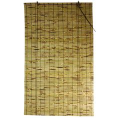 Features:  -Perfect fit for your window.  -Bamboo construction.  -Easy to hang and operate.  Product Type: -Roll-Up Shade.  Finish: -Natural/Black/Brown.  Material: -Bamboo Rayon.  -Hangs easily by th
