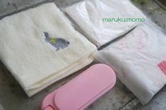 折り方の工夫で♪100均手ぬぐいで仕切りいっぱいの『身だしなポーチ』 : ~Caf'e fuu Manma~(かふぇ風まんま) Blog, Blogging