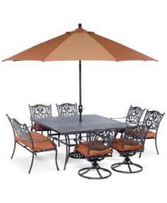 Chateau Outdoor Cast Aluminum 11 Pc Dining Set 84 X 60