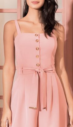 Macacão Alfaiataria Rosa | Antix Dress Paterns, Girl Fashion, Womens Fashion, Autumn Fashion, Dress Up, Jumpsuit, Glamour, Plus Size, Summer Dresses